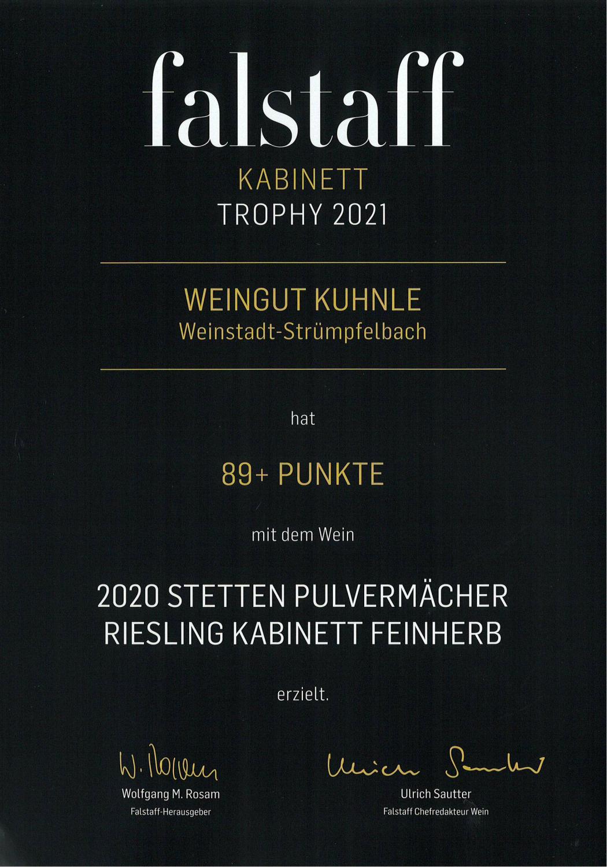 "<?=89 Punkte bei ""Falstaff Kabinett Trophy 2021""?>"
