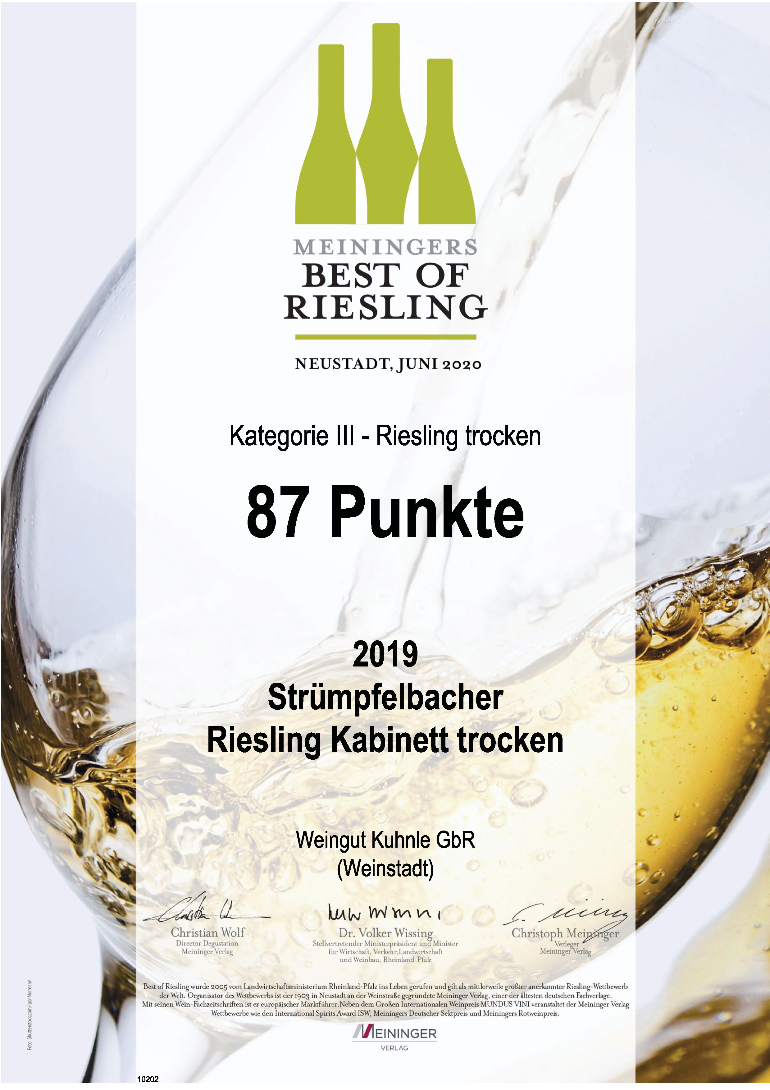 """<?=88 Punkte bei """"Best of Riesling""""?>"""