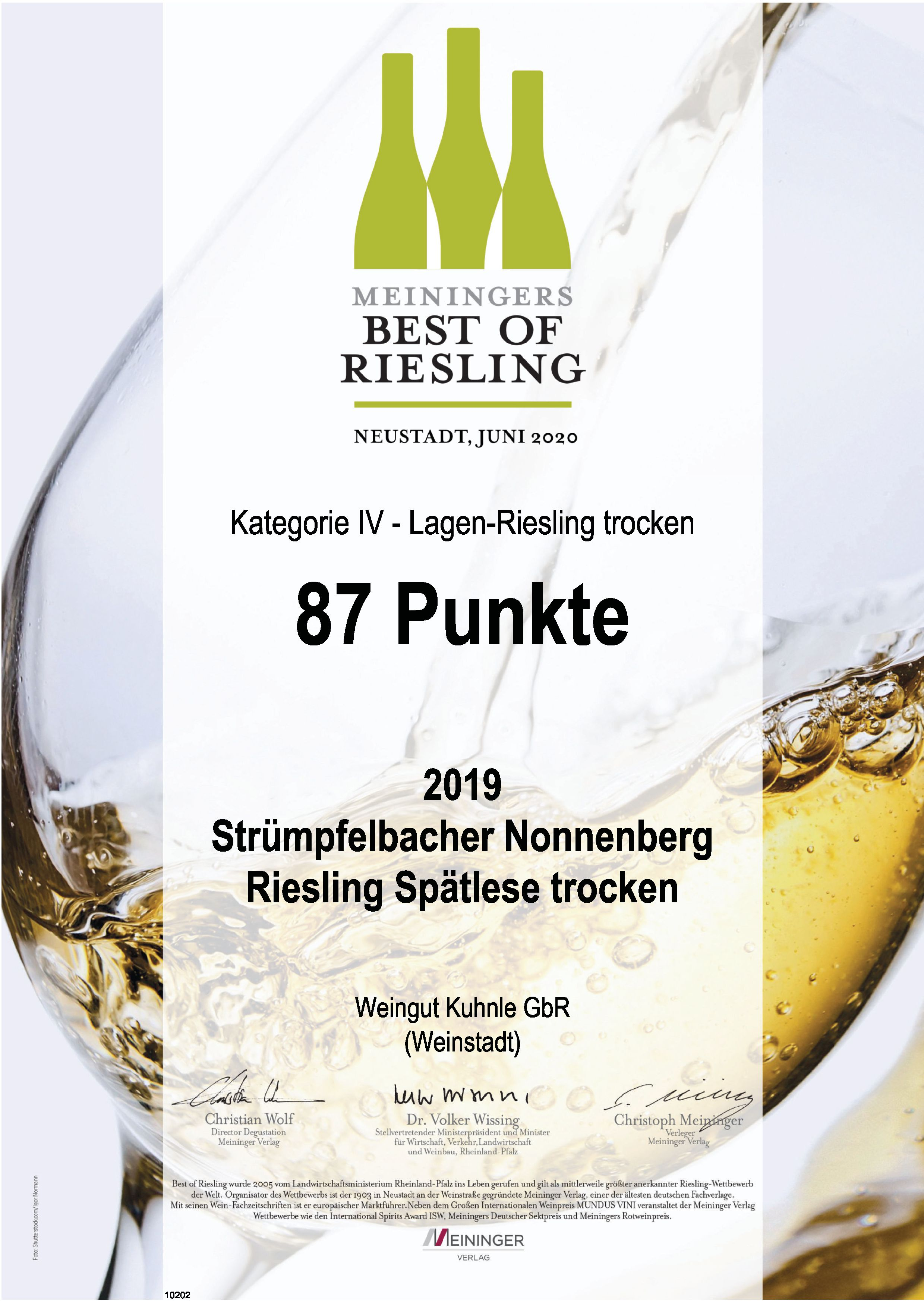 """<?=87 Punkte bei """"Best of Riesling""""?>"""