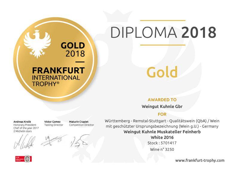 <?=Goldmedaille bei Frankfurt International Trophy 2018?>