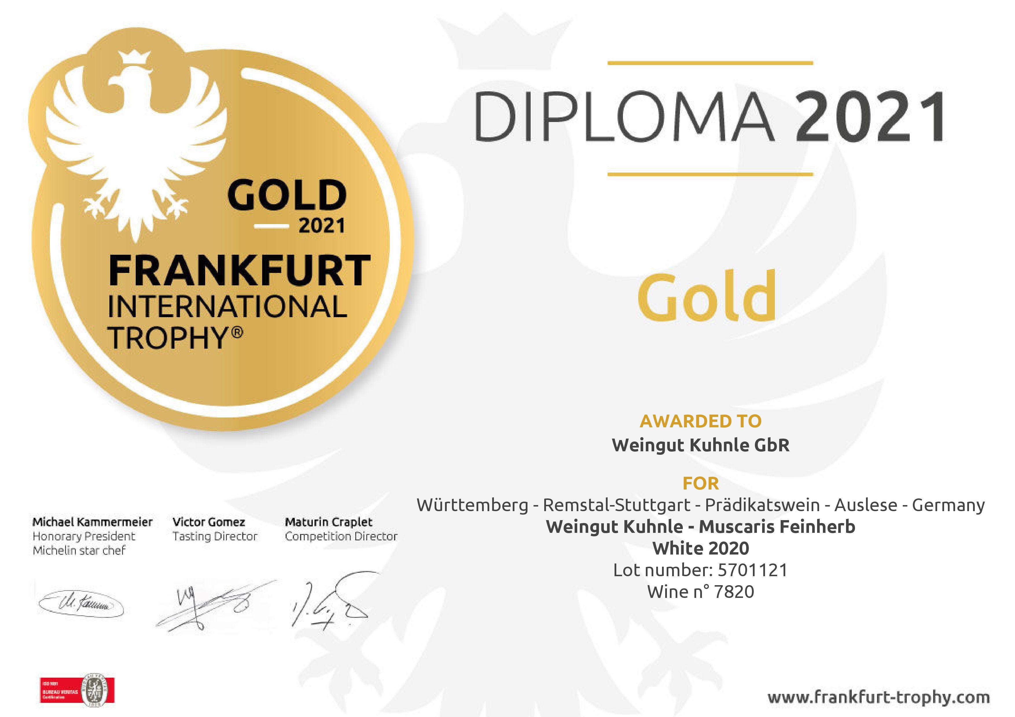 <?=Gold bei Frankfurt International Trophy 2021?>