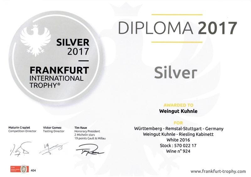 "<?=Silbermedaille beim ""Frankfurt International Trophy 2017""?>"