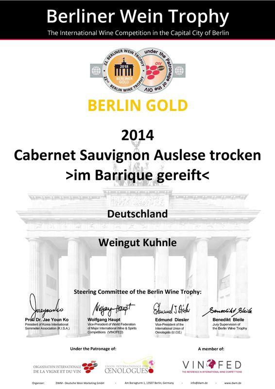 <?=Goldmedaille bei der Berliner Wein Trophy 2018?>