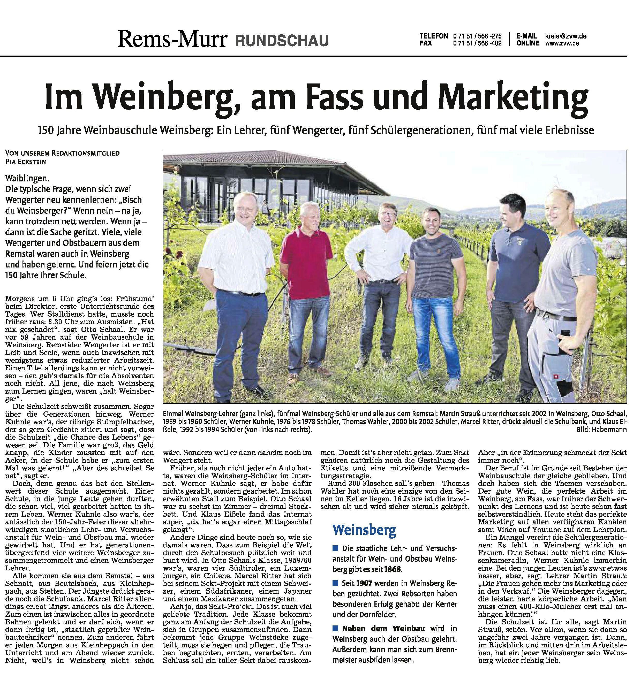 <?=Im Weinberg, am Fass und Marketing?>