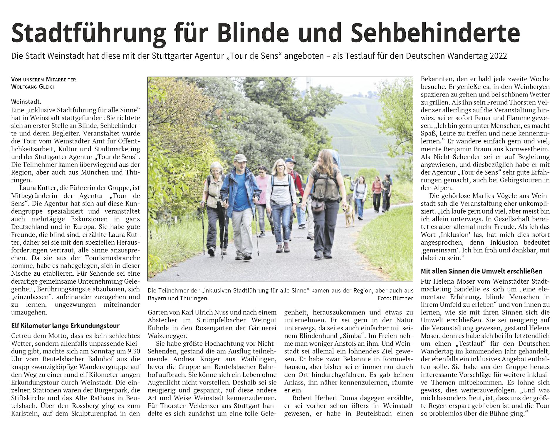 <?=Stadtführung für Blinde und Sehbehinderte?>