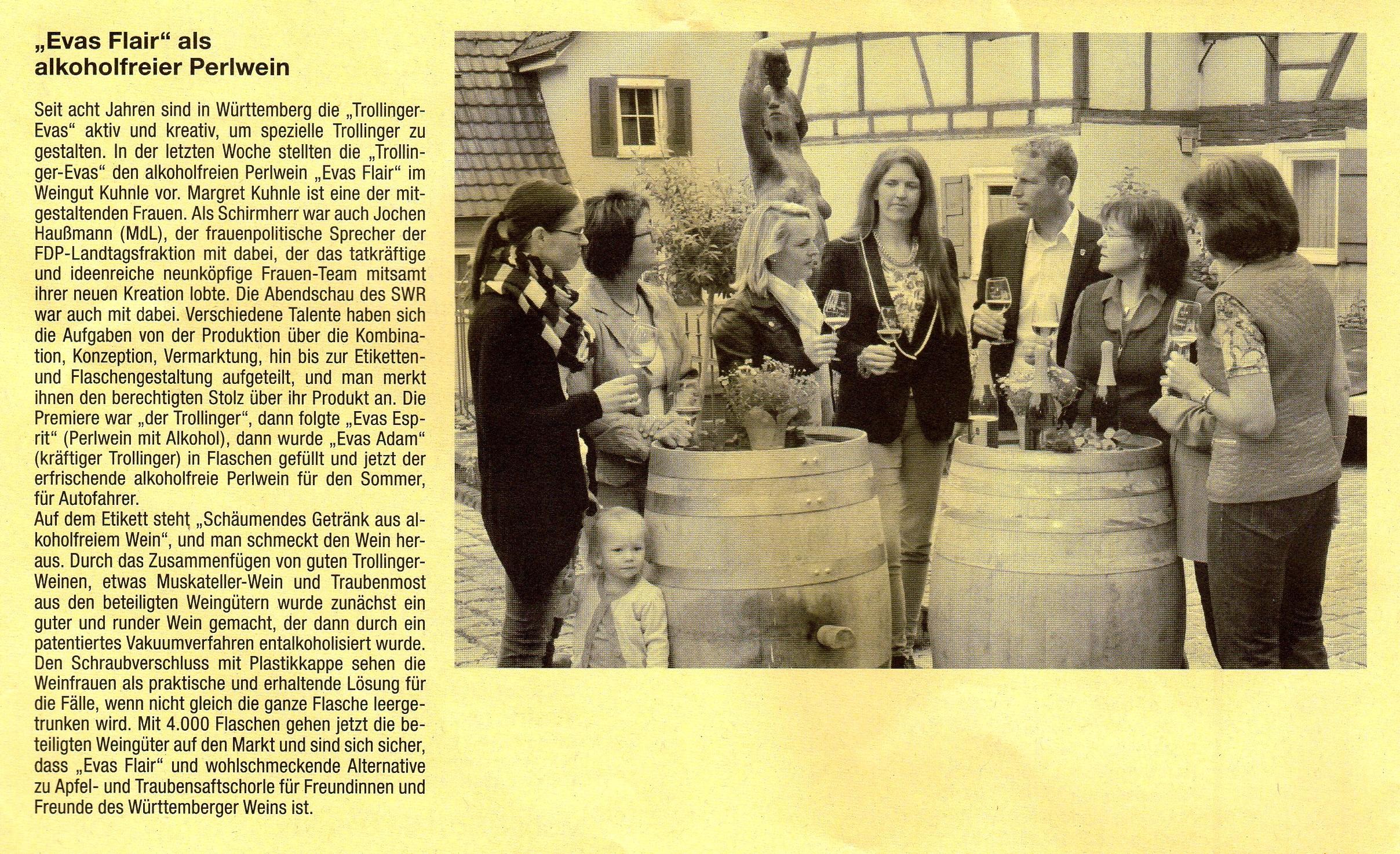 <?=Evas Flair als alkoholfreier Perlwein?>