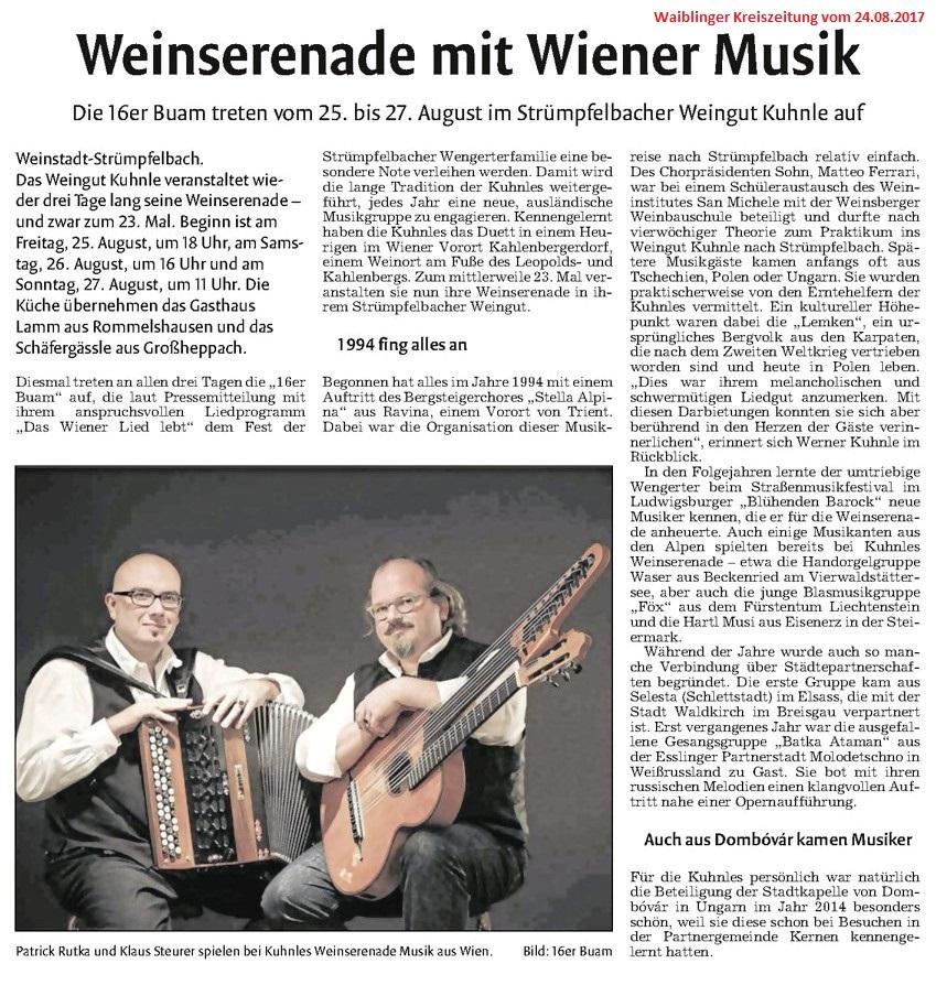 <?=Weinserenade mit Wiener Musik?>