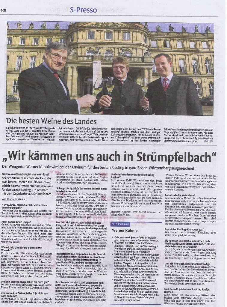 """<?=""""Wir kämmen uns auch in Strümpfelbach...""""?>"""