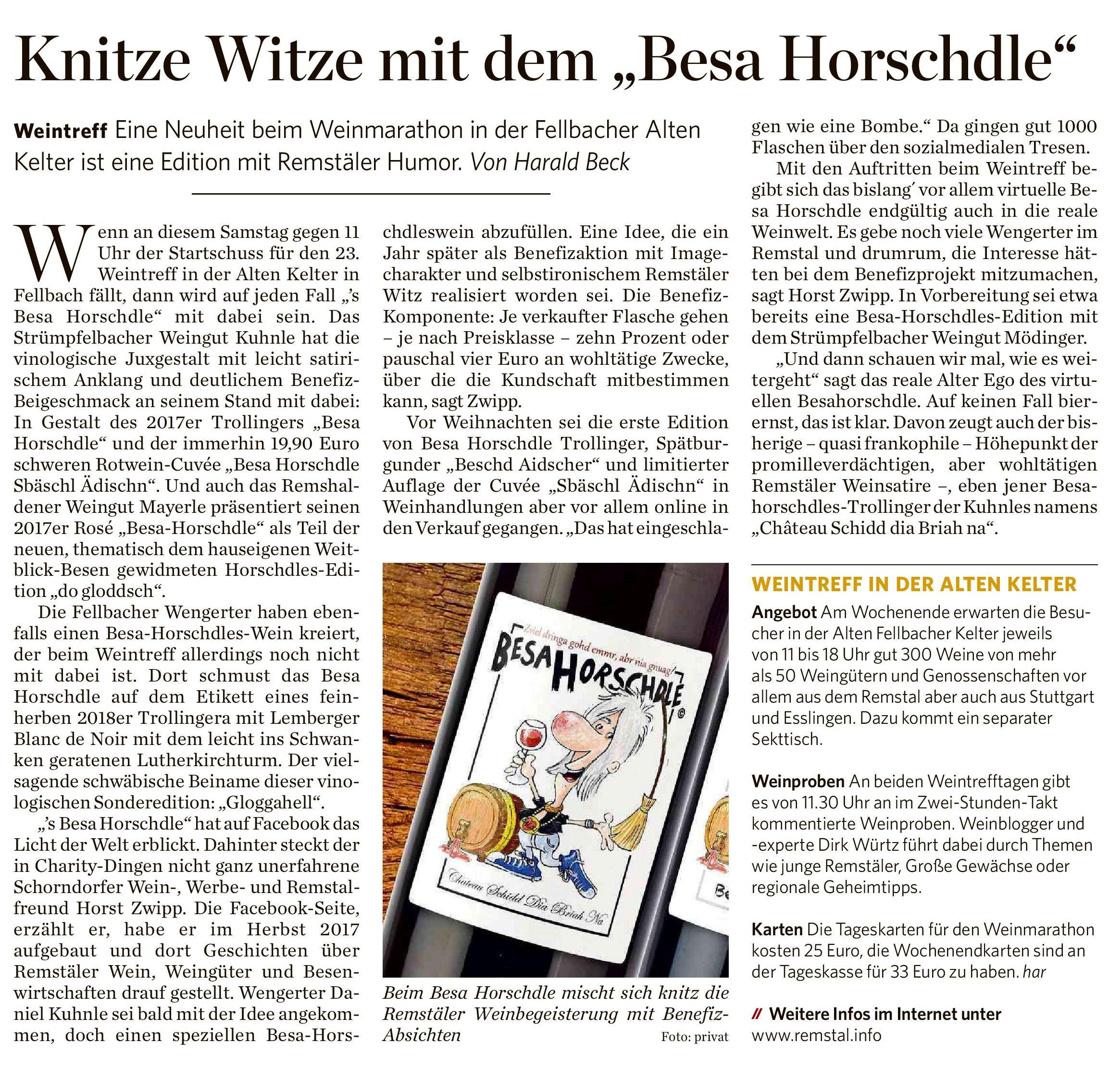"""<?=Knitze Witze mit dem """"Besa Horschdle""""?>"""