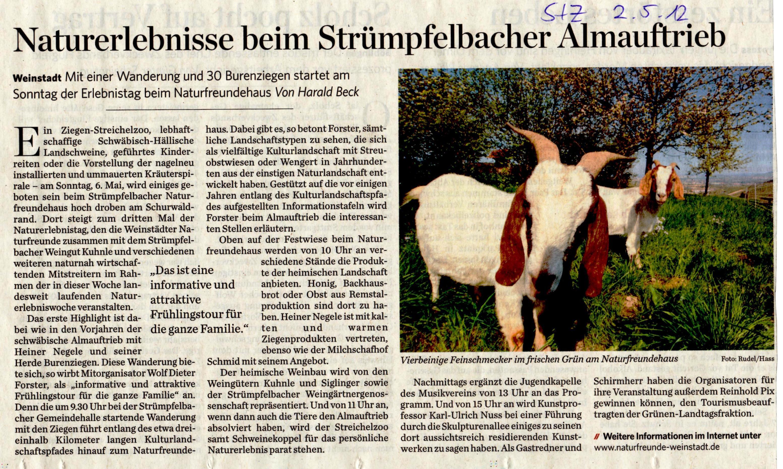<?=Naturerlebnis beim Strümpfelbacher Almauftrieb?>