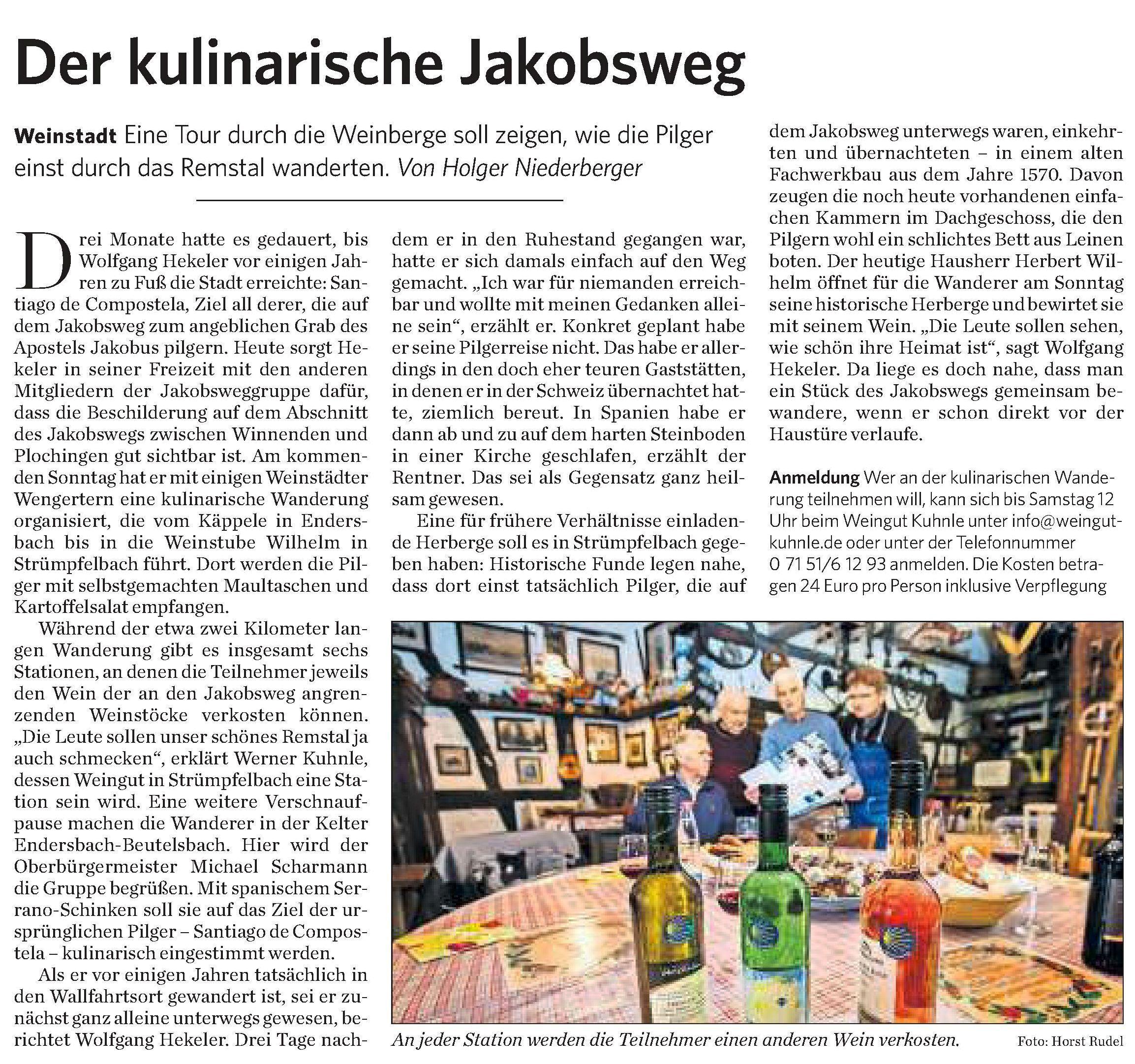 <?=Der kulinarische Jakobsweg?>