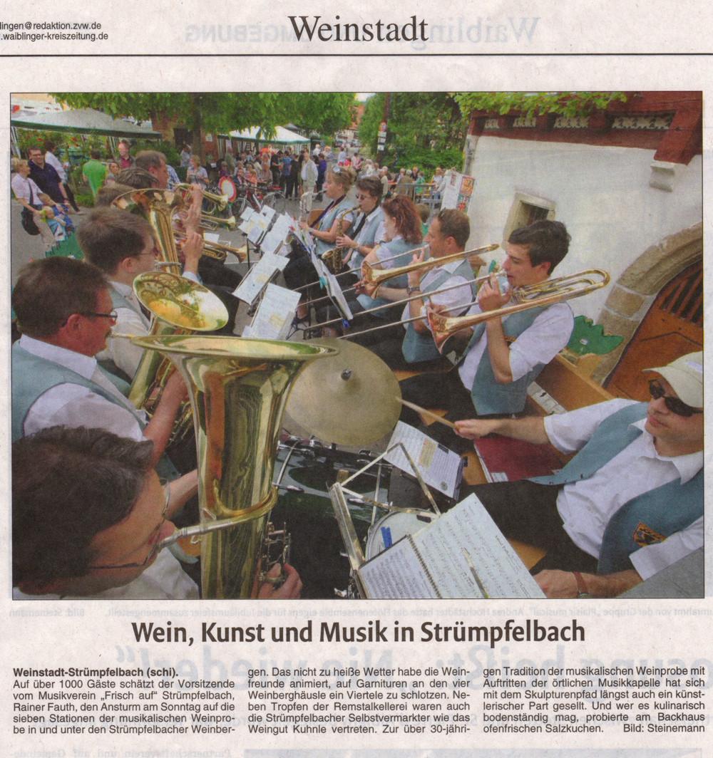 <?=Wein, Kunst und Musik in Strümpfelbach?>